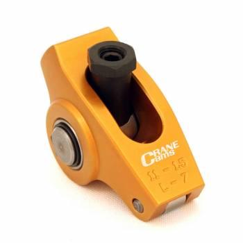 "Crane Cams - Crane Cams Gold Aluminum Race Rocker Arm Set - SB Chevy Standard - 1.5 Ratio, 3/8"" Stud"