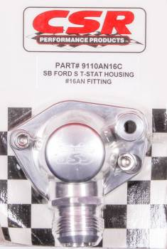 CSR Performance Products - CSR Performance Swivel Thermostat Housing - SB Ford -16 AN Hose