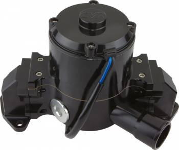 "CVR Performance Products - CVR Performance Products Electric Water Pump 1-13/16 on O-Ring Female Inlet Port 6.00"" Height Aluminum - Black Anodize"