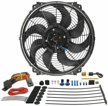 """Derale Performance - Derale 16"""" Tornado Electric Fan & 180°F Dual Probe Fan Controller Kit"""