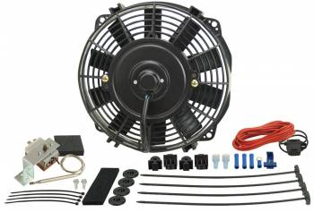 "Derale Performance - Derale 9"" Dyno-Cool Electric Fan and Mechanical Fan Controller Kit, Premium"