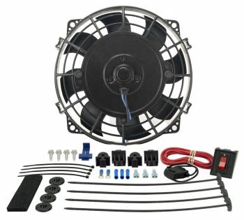 "Derale Performance - Derale 7"" Tornado Electric Puller Fan, Premium Mounting Kit"