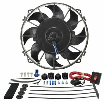 "Derale Performance - Derale 8"" Tornado Electric Puller Fan, Premium Mounting Kit"