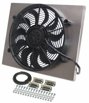 "Derale Performance - Derale High Output Single 17"" Electric RAD Fan/Aluminum Shroud Kit"