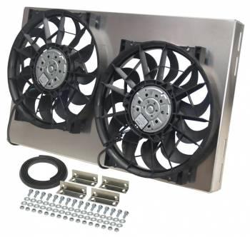 """Derale Performance - Derale High Output Dual 12"""" Electric RAD Fan/Aluminum Shroud Kit - 25-5/8""""W x 15-1/8""""H x 4""""D"""