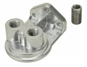 "Derale Performance - Derale Single Ports Up 1/4"" NPT Filter Mount with 3/4""-16 Filter Threads"
