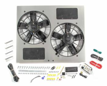 "Derale Performance - Derale High Output Dual 11"" Electric RAD Fan/Aluminum Shroud w/ Built-in PWM Controller - 23-3/4""W x 19-3/4""H x 4-1/2""D"