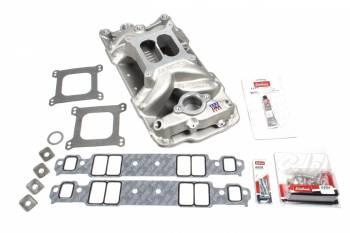 Edelbrock - Edelbrock SB Chevy 7501 Intake Manifold & Installation Kit