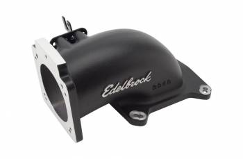 Edelbrock - Edelbrock Throttle Body Intake Elbow - Black Powder Coated