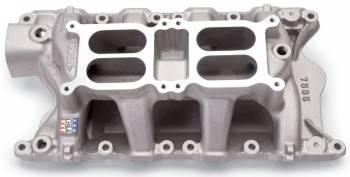 Edelbrock - Edelbrock RPM Air Gap Dual-Quad Intake Manifold - Cast Finish