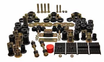 Energy Suspension - Energy Suspension Hyper-Flex Bushing Master Set - Polyurethane - Black - 74-75 Camaro, Firebird