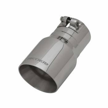 "Flowmaster - Flowmaster Clamp-On Exhaust Tip 3"" Inlet 4"" Outlet 7"" Long - Single Wall"