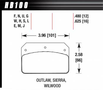 Hawk Performance - Hawk Performance HT-10 Brake Pads - Fits Wilwood Dynalite, Outlaw 2000