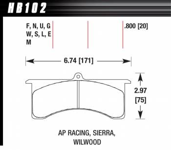 Hawk Performance - Hawk Performance DTC-70 Brake Pads - Fits Wilwood GN, AP Six Piston