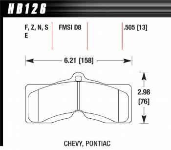 Hawk Performance - Hawk Disc Brake Pads - HP Plus w/ 0.505 Thickness