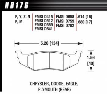 Hawk Performance - Hawk Disc Brake Pads - HPS Performance Street w/ 0.614 Thickness