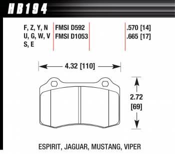 Hawk Performance - Hawk Disc Brake Pads - HPS Performance Street w/ 0.570 Thickness