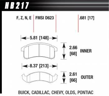Hawk Performance - Hawk Disc Brake Pads - HPS Performance Street w/ 0.681 Thickness
