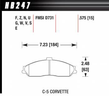 Hawk Performance - Hawk Disc Brake Pads - Performance Ceramic w/ 0.575 Thickness