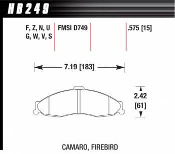 Hawk Performance - Hawk Disc Brake Pads - HPS Performance Street w/ 0.575 Thickness