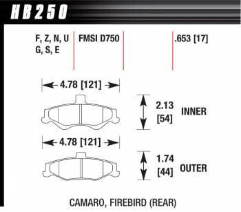 Hawk Performance - Hawk Disc Brake Pads - HPS Performance Street w/ 0.653 Thickness