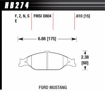 Hawk Performance - Hawk Disc Brake Pads - HPS Performance Street w/ 0.610 Thickness