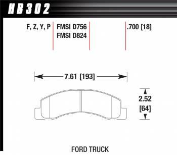 Hawk Performance - Hawk Disc Brake Pads - SuperDuty w/ 0.700 Thickness