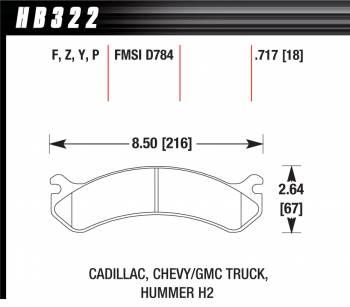 Hawk Performance - Hawk Disc Brake Pads - LTS w/ 0.717 Thickness