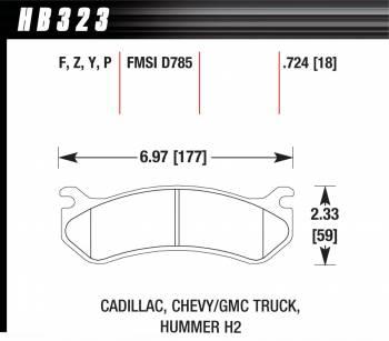 Hawk Performance - Hawk Disc Brake Pads - LTS w/ 0.724 Thickness