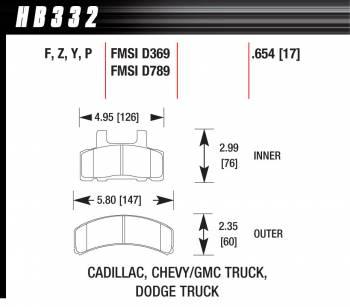 Hawk Performance - Hawk Disc Brake Pads - HPS Performance Street w/ 0.654 Thickness