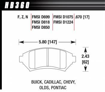 Hawk Performance - Hawk Disc Brake Pads - HPS Performance Street w/ 0.670 Thickness