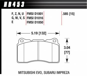Hawk Performance - Hawk Disc Brake Pads - HP Plus w/ 0.585 Thickness