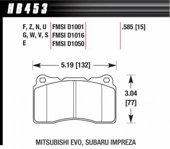 Hawk Performance - Hawk Disc Brake Pads - HP Plus w/ 0.585 Thickness