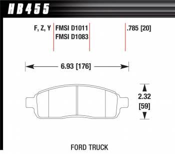 Hawk Performance - Hawk Disc Brake Pads - LTS w/ 0.785 Thickness