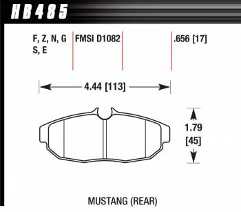Hawk Performance - Hawk Disc Brake Pads - HP Plus w/ 0.656 Thickness