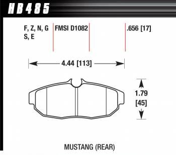 Hawk Performance - Hawk Disc Brake Pads - Performance Ceramic w/ 0.656 Thickness