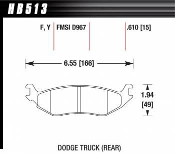 Hawk Performance - Hawk Disc Brake Pads - LTS w/ 0.610 Thickness