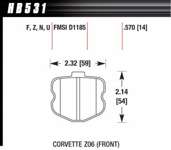Hawk Performance - Hawk Disc Brake Pads - Performance Ceramic w/ 0.570 Thickness