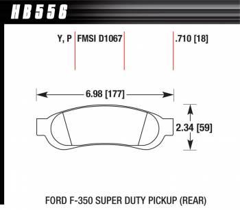 Hawk Performance - Hawk Disc Brake Pads - LTS w/ 0.710 Thickness