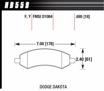 Hawk Performance - Hawk Disc Brake Pads - HPS Performance Street w/ 0.695 Thickness