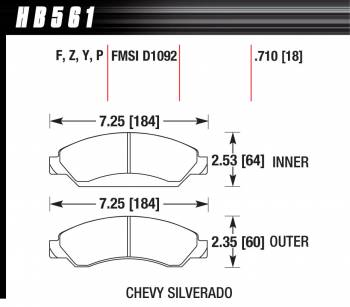 Hawk Performance - Hawk Disc Brake Pads - HPS Performance Street w/ 0.710 Thickness