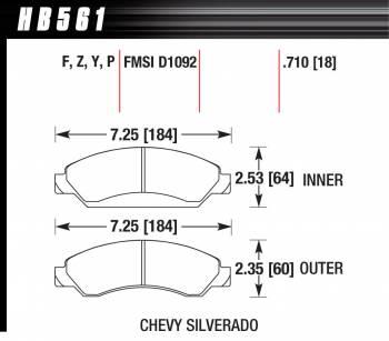 Hawk Performance - Hawk Disc Brake Pads - Performance Ceramic w/ 0.710 Thickness