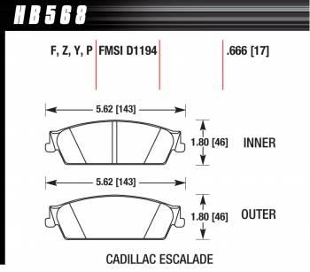 Hawk Performance - Hawk Disc Brake Pads - HPS Performance Street w/ 0.666 Thickness