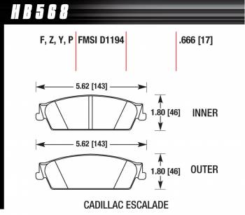 Hawk Performance - Hawk Disc Brake Pads - LTS w/ 0.666 Thickness