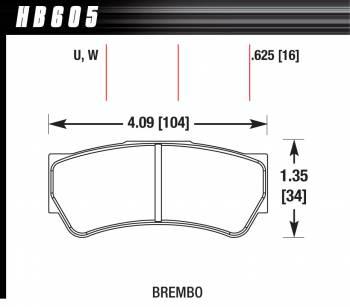 Hawk Performance - Hawk Disc Brake Pads - DTC-30 w/ 0.625 Thickness