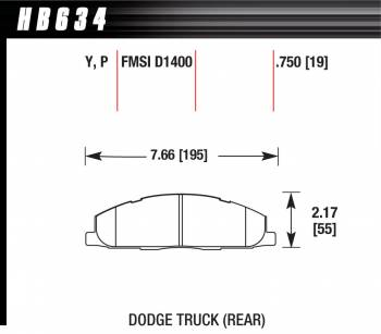 Hawk Performance - Hawk Performance Street Brake Pads (4)