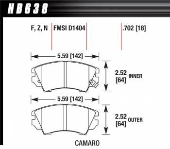 Hawk Performance - Hawk Disc Brake Pads - Performance Ceramic w/ 0.702 Thickness