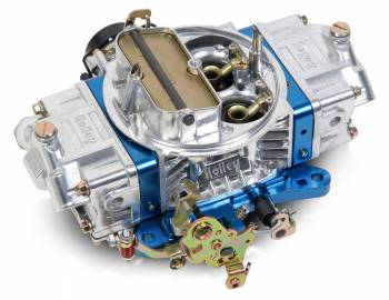 Holley Performance Products - Holley 850 CFM Ultra Double Pumper Carburetor - Silver/Blue