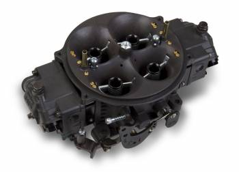 Holley Performance Products - Holley Ultra Dominator Carburetor - 1250 CFM 4500 Series - Hard Core Gray™ w/ Black Metering Blocks & Base Plate