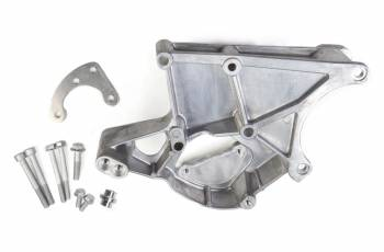 Holley Performance Products - Holley LS Accessory Drive Bracket-Driver's Side Power Steering & Alt Bracket-w/o A/C or using factory A/C bracket